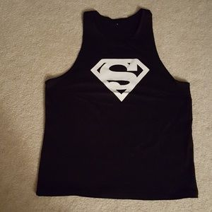 Other - Mens Black Superman Tank Top Medium NWOT